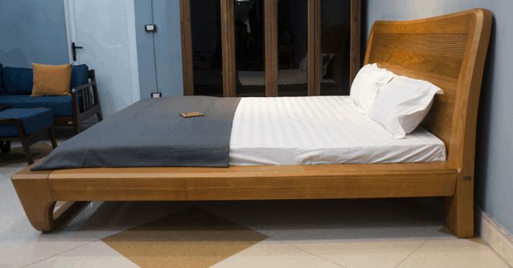 giường ngủ gỗ gõ đỏ phong cách hiện đại