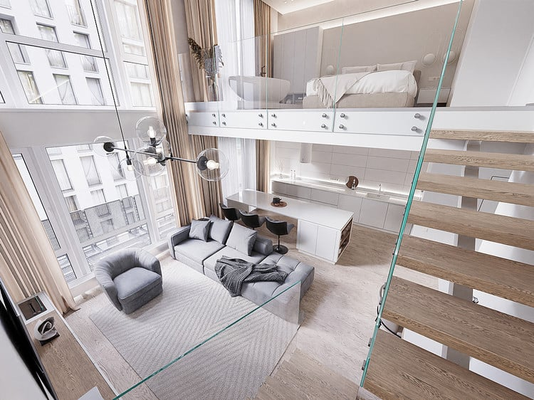 Mẫu thiết kế căn hộ chung cư có gác lửng