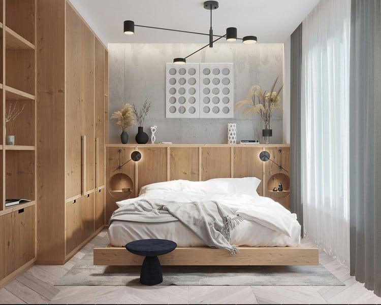 mẫu phòng ngủ đơn giản cho nam