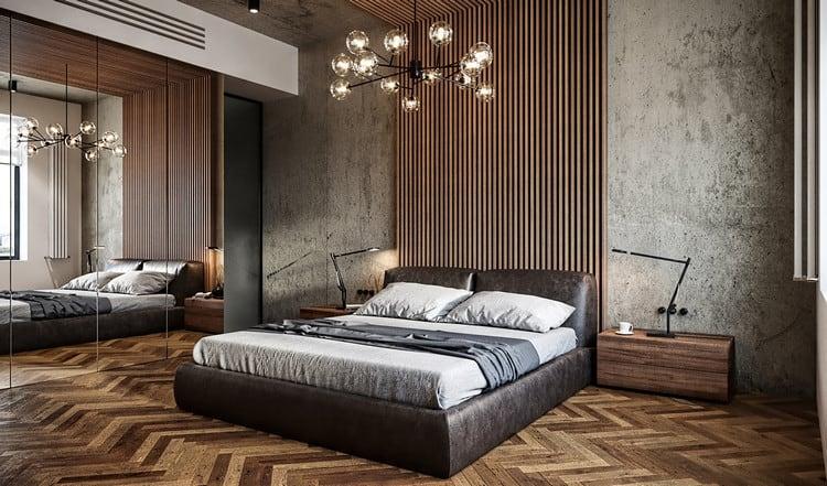 thiết kế phòng ngủ nam với tiêu chuẩn châu âu