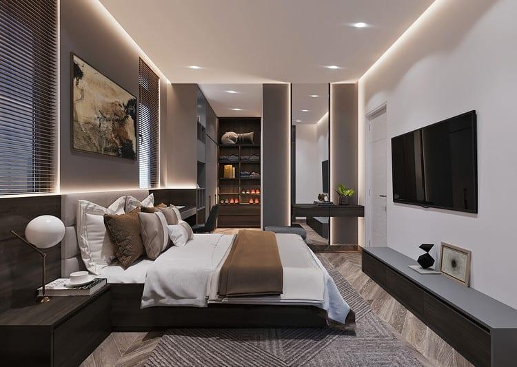 phòng ngủ nam lịch lãm