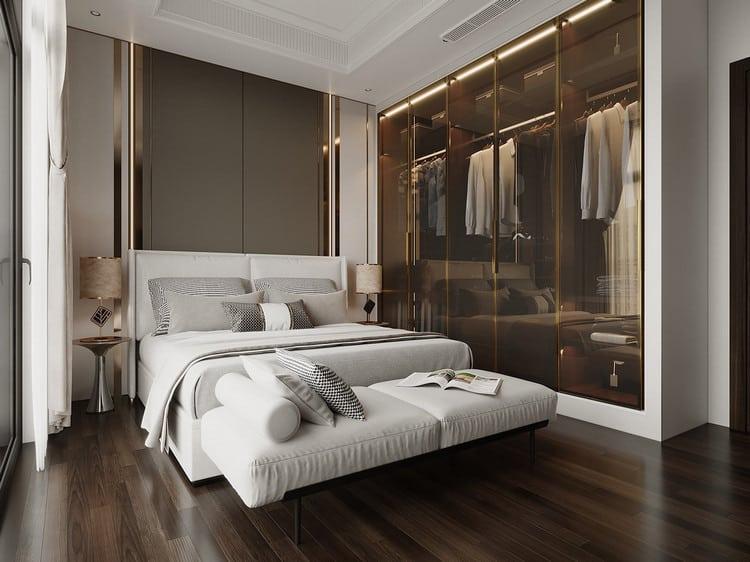Mẫu nội thất phòng ngủ sang trọng cho nam