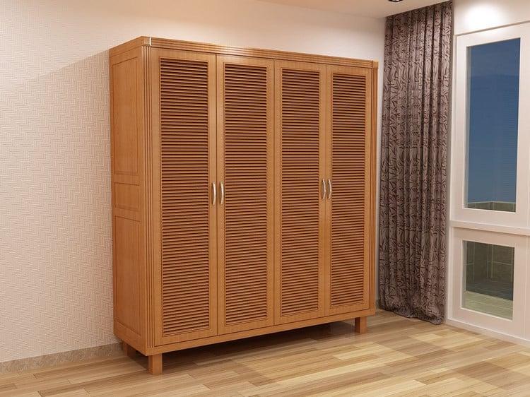tủ quần áo gỗ sồi mỹ