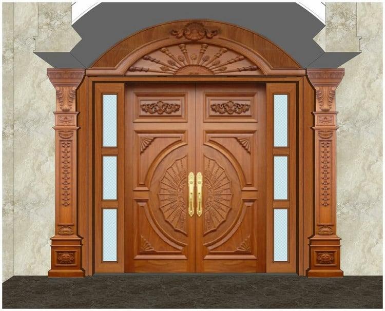 cửa gỗ biệt thự tân cổ điển
