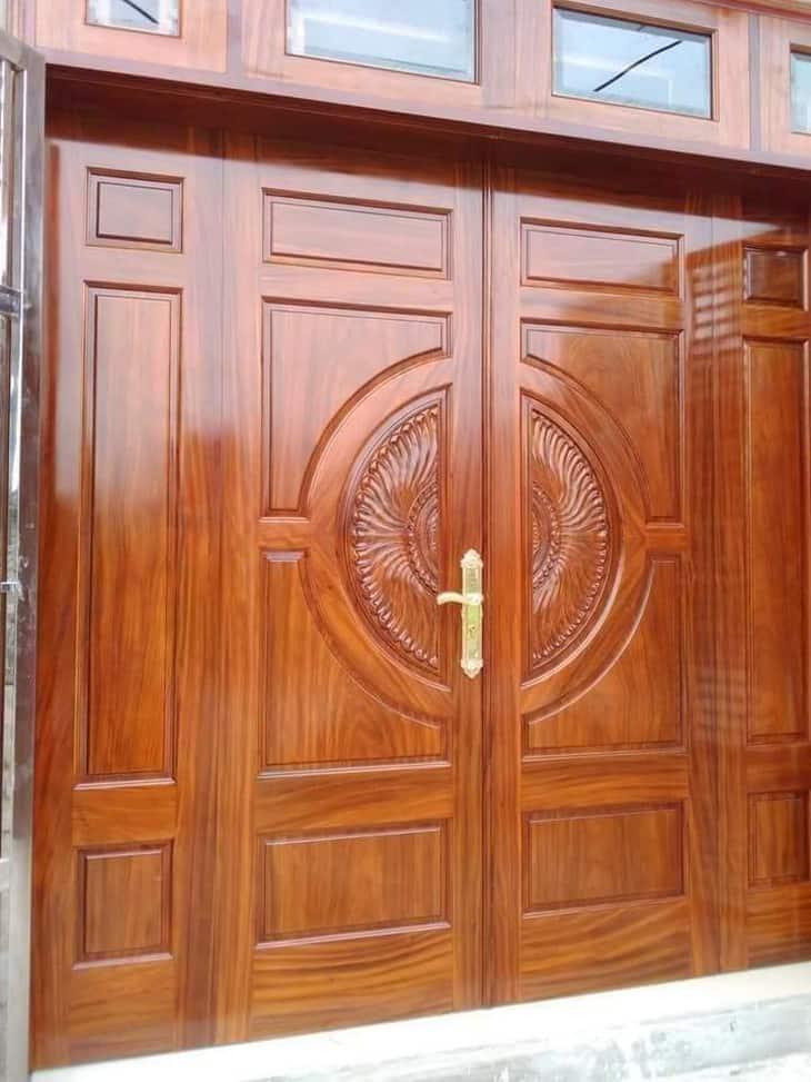 mẫu cửa gỗ biệt thự 4 cánh