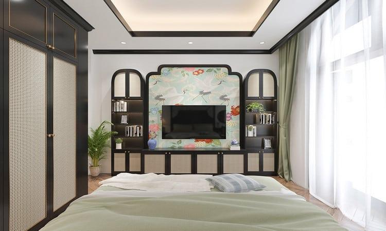 thiết kế phòng ngủ master phong cách indochine